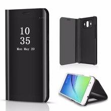 Зеркальная Задняя панель для samsung S10 S9 S8 Note9 Smart View откидная крышка подставка для iphone XS Max huawei Коврики 20 Lite huawei P30 Pro