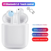 2019 New i11 Tws Mini Wireless Bluetooth Earphones 5.0 Air Pod Touch Control Earbuds Wireless Headset Stereo Earphone pk i10 i12