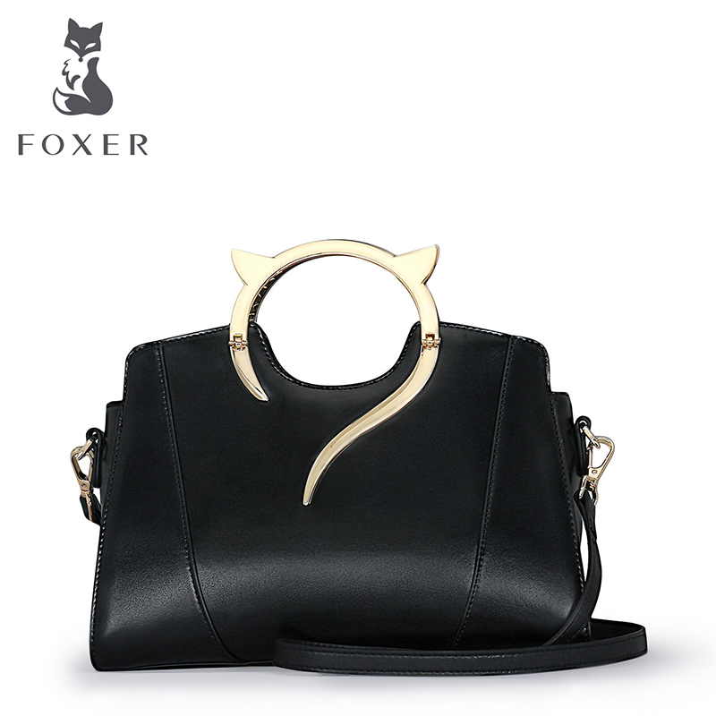 FOXER Luxury Handbag Women Leather Bags Crossbody for Ladies Evening Shoulder Bag Brand Tote Designer Wristlets Top-Handle Bags women handbag shoulder bag messenger bag casual colorful canvas crossbody bags for girl student waterproof nylon laptop tote