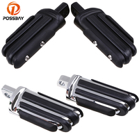 1Pair Chrome Black Vintage Motocross Motorcycle Footrest Highway Foot Pegs ATV Motorbike Pedal Scooter Accessories For