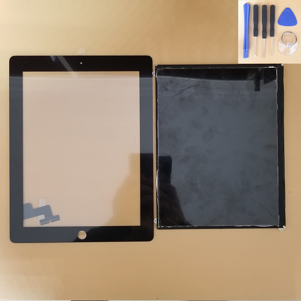 "9.7"" Full New For iPad 2 Touch iPad2 A1395 A1396 A1397 Touch Screen Digitizer with LCD Display Screen Panel+free Home Button