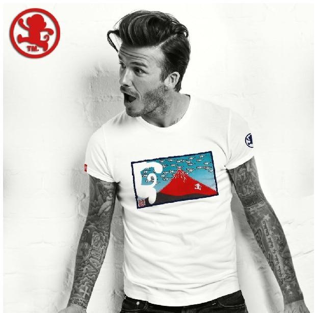 free shipping japanese tide brand t shirt david beckham