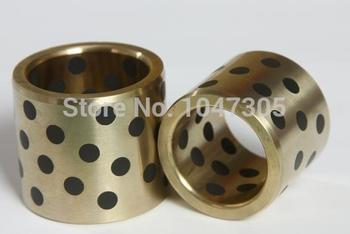JDB 120140100 oilless impregnated graphite brass bushing straight copper type, solid self lubricant Embedded bronze Bearing bush