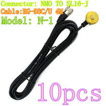 10pcs Hot NAGOYA N-1 NMO SL16-J RG-58C/U 4M Roof Mount/Mobile Antenna Bracket Black