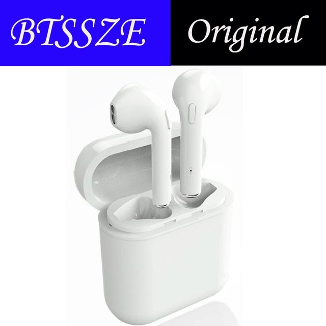BTSSZE New F10 Wireless Bluetooth earphones Stereo Earbuds In-Ear Earphone Air Microphone Pods for Iphone 6/7/8 plus /X Android mini bluetooth headsets wireless sports in ear stereo earbuds earpiece earphones not air pods for apple iphone android