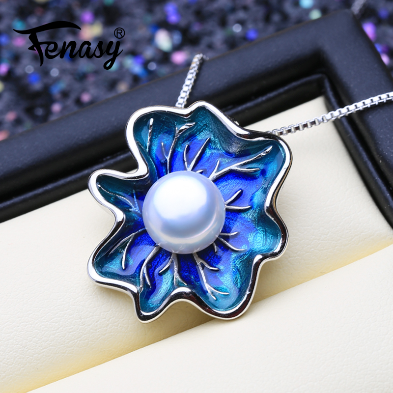 FENASY Pearl Jewelry flower pendant Genuine natural Pearl Necklace cloisonne Pearl Choker pendant Women 2019 new Enamel pendantFENASY Pearl Jewelry flower pendant Genuine natural Pearl Necklace cloisonne Pearl Choker pendant Women 2019 new Enamel pendant