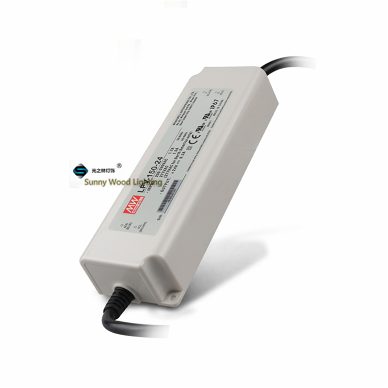 100-240Vac to 24VDC ,150W ,24V6.3A IP67 UL  power supply ,outdoor Led light,led signboard waterproof driver ,LPV-150-24 90w led driver dc40v 2 7a high power led driver for flood light street light ip65 constant current drive power supply