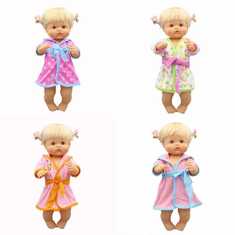 4 Style Bathrobe Doll Clothes Fit For 42cm Nenuco Doll Nenuco Su Hermanita Doll Accessories