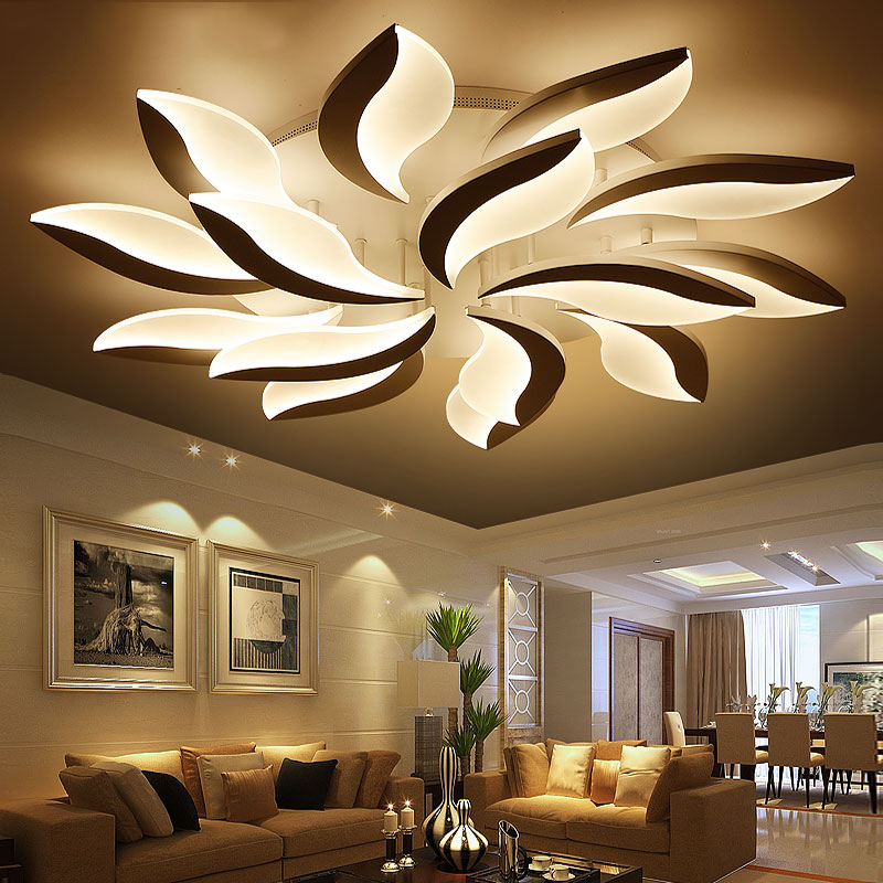 Neo gleam new design acrylic modern led ceiling for Lampe plafond design
