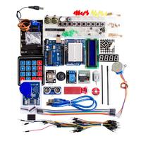 Free Shipping NEW Funduino Upgraded Version For Arduino Kit UNO R3 Development Board Kit Containing Membrane