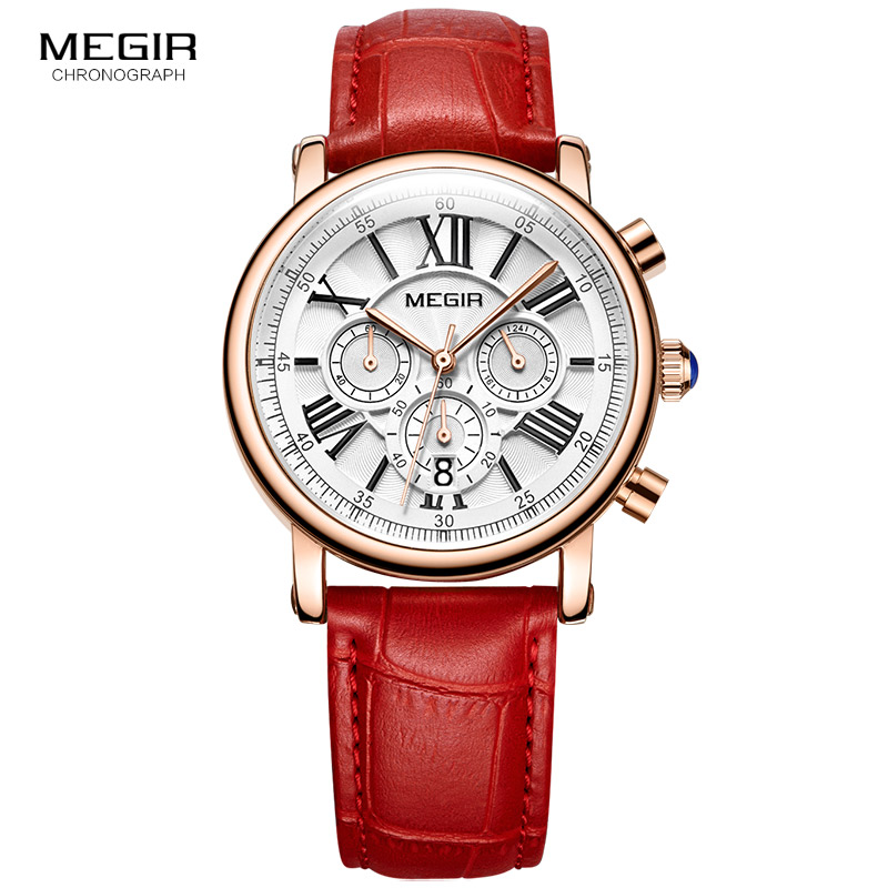 MEGIR Fashion Women Bracelet Watches Top Brand Luxury Ladies Quartz Watch Clock for Lovers Relogio Feminino Sport Wristwatches zivok fashion brand women watches luxury red lovers bracelet wrist watch clock women relogio feminino ladies quartz wristwatch
