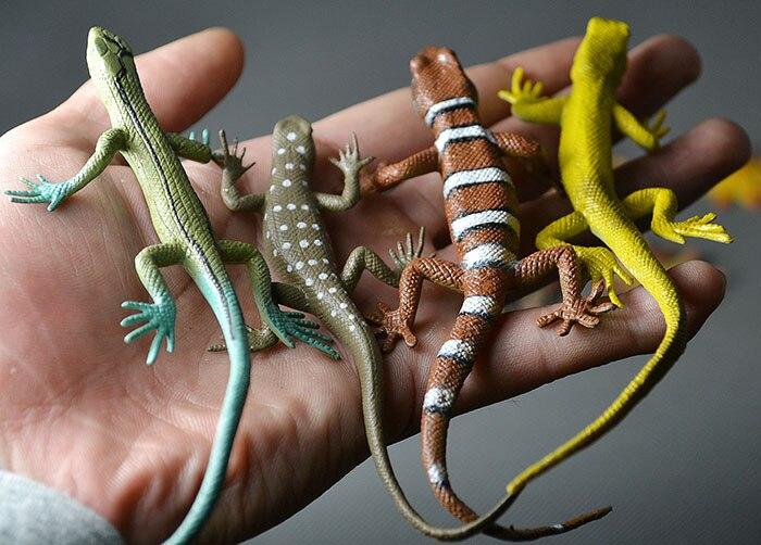 Flawly 10 ШТ./КОМПЛ. Животная модель игрушка Без запаха среды дикой природы моделирование Геккон ящерица хамелеон ящерица модель рис игрушки