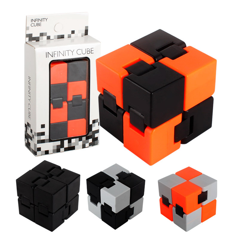 New Trend Creative Infinite Cube Office Flip Cubic Puzzle Anti Stress Reliever Autism Toys For Children