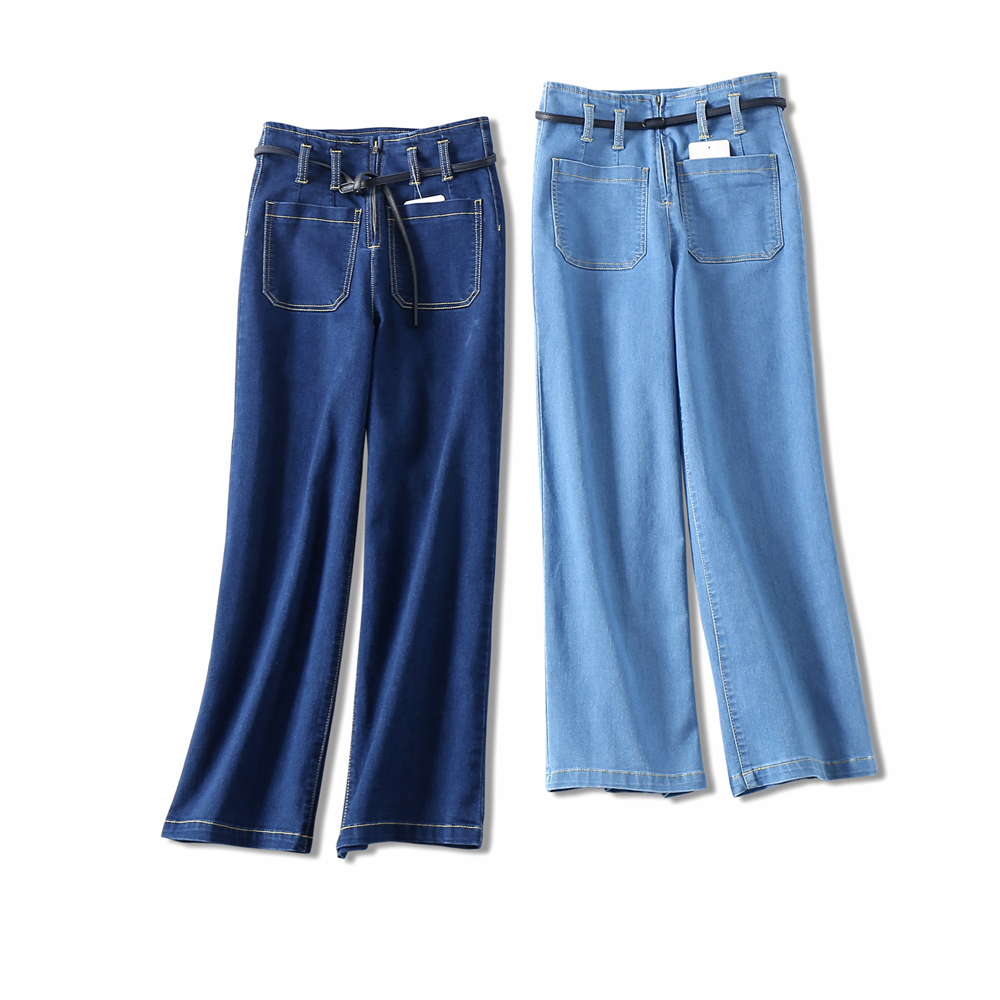 High Waist Jeans Fashion Washed Ankle-Length Loose Jeans 2018 Spring Summer Solid Color Wide Leg Denim Pants Women S-XL new summer vintage women ripped hole jeans high waist floral embroidery loose fashion ankle length women denim jeans harem pants page 3