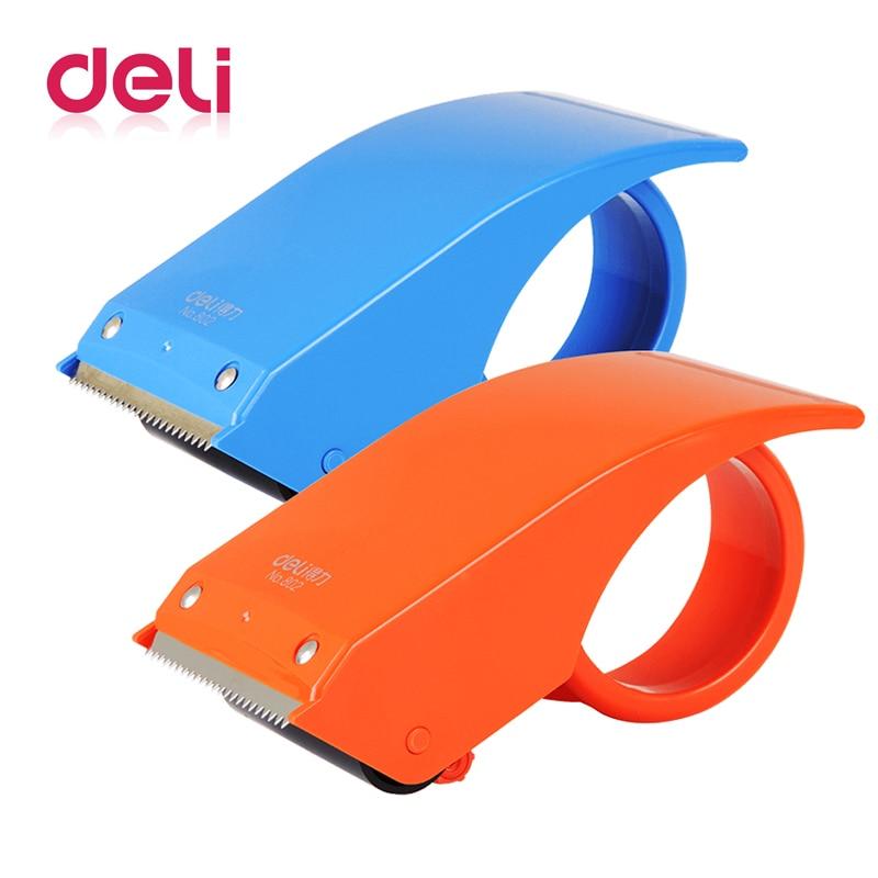 Deli 1pcs Tape Dispenser Gun Dispenser Packing Packaging Sealing Cutter Manual Sealing Device Tape Cutter Baler Carton Sealer