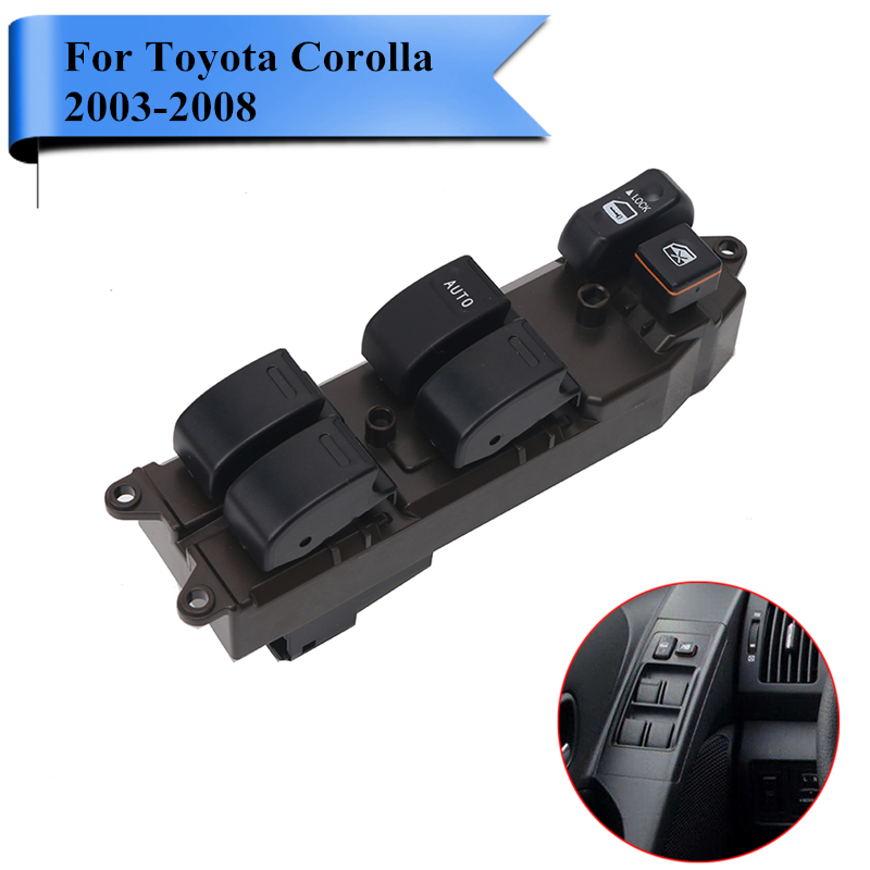 for Toyota Corolla 2003-2008 Auto Electric Power Window Switch Master Control Switch Lock Unlock #RB016