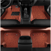 Auto Floor Mats For BMW 118 120 125 2017.2018 Foot Carpets Step Mat High Quality Water Proof leather Wire coil 2 Layer