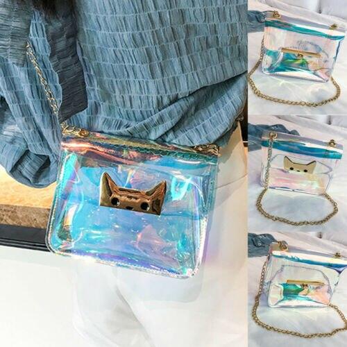 Sac à main holographique femmes | Sac Laser Transparent, petit fourre-tout à hologramme, sac à main
