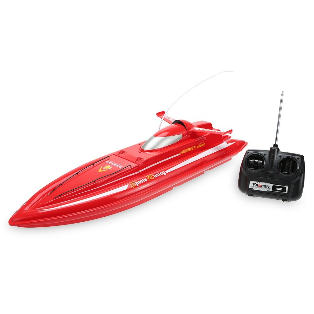 Create Toys 3332B Radio Controlled Electric High Powered High Speed RC Boat microgear radio controlled rc grasshopper flying in the air