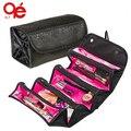 NUEVA llegada de moda bolsa de cosméticos mujeres bolsa de maquillaje kit de viaje de aseo colgantes organizador de la joyería