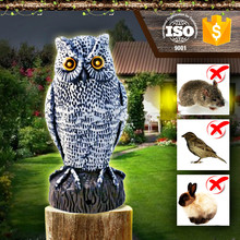 Electric Motion Activated bird animal repeller ,Garden Action scarecrow scare bird owl