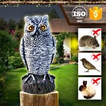 Electric Motion Activated bird animal repeller ,Garden Action scarecrow scare bird owl
