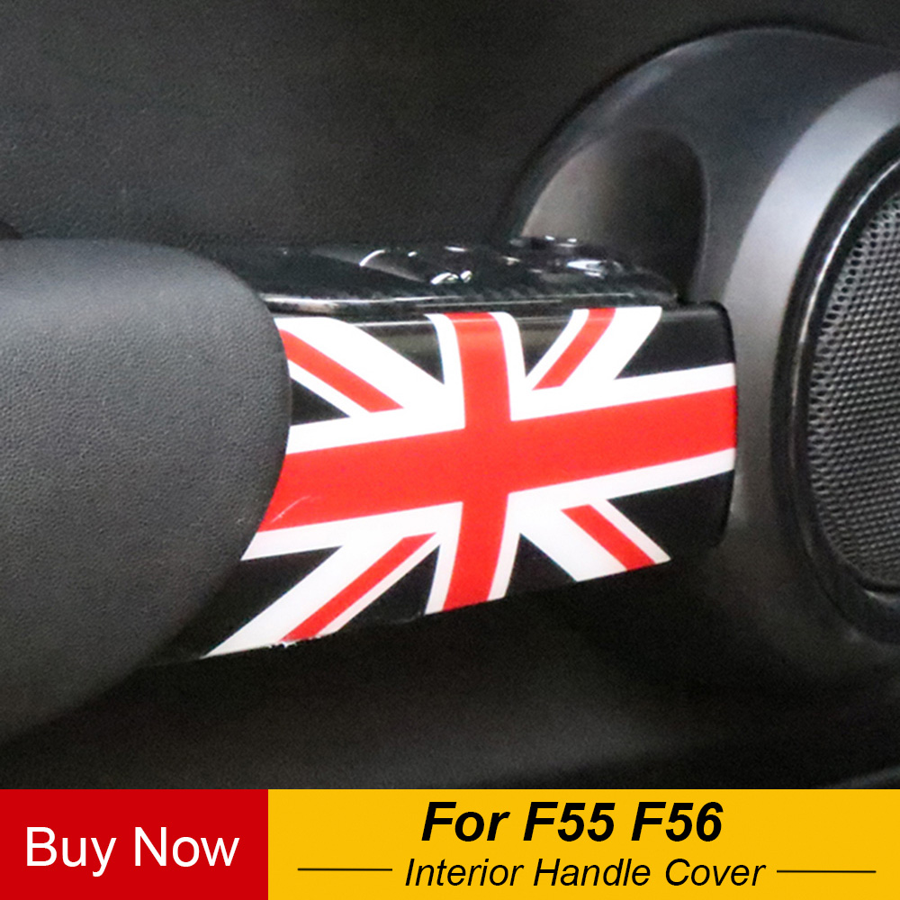 2pcs Auto Interior Door Handle ABS Housing Cover Case Car Decoration Sticker For MINI Cooper F55 F56 Car Styling Accessories