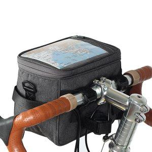 4.5L Saco Para Saco de Guidão de Bicicleta Para O Quadro Da Bicicleta Saco de Ciclismo Quadro de Bicicleta À Prova D' Água Para Cesta Da Bicicleta Para Bicicleta