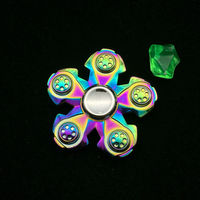 Five Flower Rainbow Alloys Hand Spinner Fidgets EDC Sensory Decorate Finger Spinner Metal For Autism And