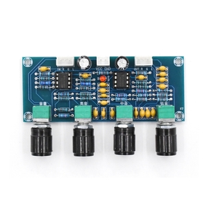 Image 2 - XH A901 ne5532 treble bass 볼륨 조절 기능이있는 톤 보드 앰프 오디오 보드 용 프리 앰프 톤 컨트롤러