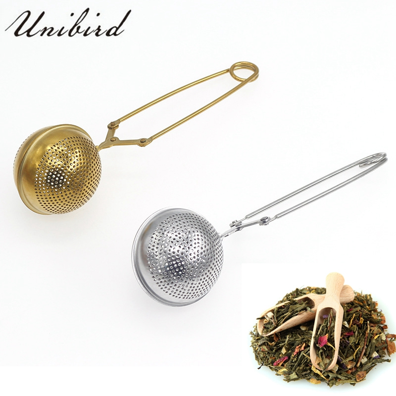 Unibird 1Pc Stainless Steel Tea Infuser Clip High Quality Ball Shaped Tea Strainer Herb Spice Spoon Filter Teaware Kitchen Tool