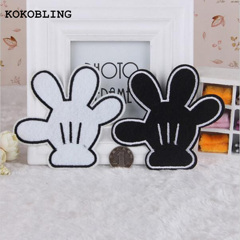 20pcs Cartoon hand patches ironing on clothes paste ...