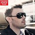 Triumph vision sin montura de una sola pieza a prueba de viento gafas de sol polarizadas de los hombres gafas de conducción del conductor gafas de sol de los hombres oculos shades negro macho