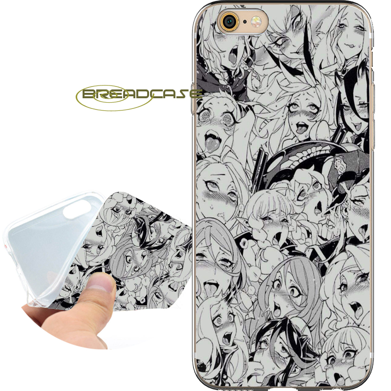 Coque Sexy AHEGAO GIRLS Soft Clear TPU Silicone Phone Cases for iPhone X 8 7 6S 6 Plus 5S SE 5 5C 4S 4 Case iPod Touch 6 5 Cover