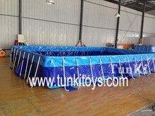 Metallrahmen-Swimmingpool für Hinterhof, quadratisches Metallrahmen-Pool mit Abdeckung für Verkauf