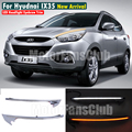 LED Head Light Eyebrows Trim Lamp Bezel Cover Headlight DRL For Hyudnai IX35 2009-2013 With Turn Signal