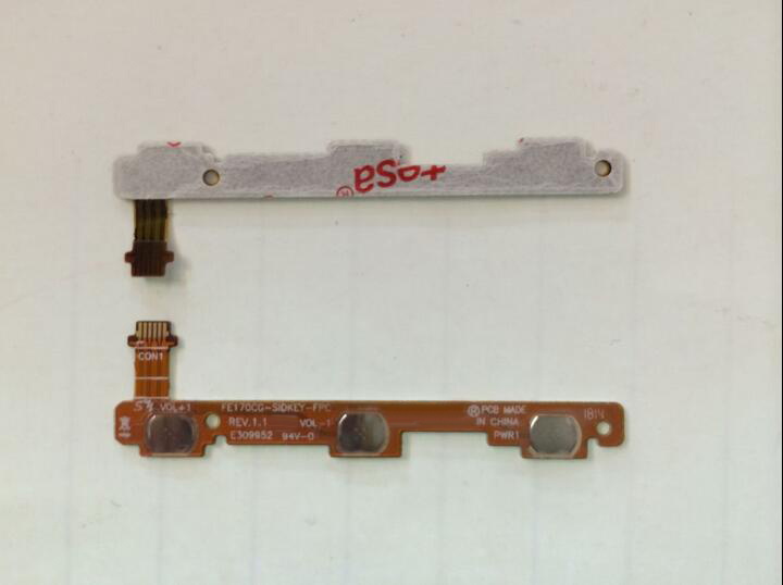 100% original Power Button Switch On Off Flex Cable Replacement For ASUS Fonepad 7 2014 Me170cg K012 tablet in stock