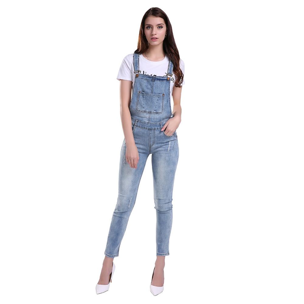 Женский джинсовый комбинезон 42 4