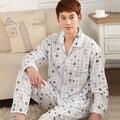 2016 verão casual homens nighty pijamas conjuntos de malha modal casual homedress pijama para casal