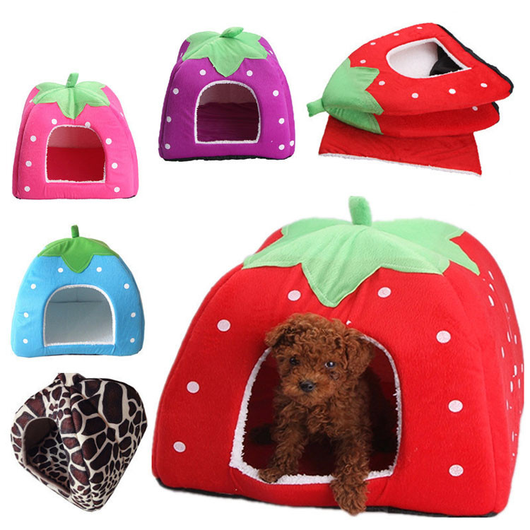 Foldable Cute Dog Kennel House S M L XL XXL Soft Cotton Pet Bed Nest For Large and Small Puppy Dogs Cats 5Colors Hot Pet Supplies1