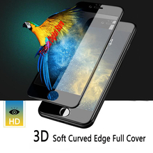 3D Curved Edge Full Cover For iPhone 6 6S 7 Plus Screen Protector Tempered Glass On The For iPhone 6 7 8 X Protective Glass Film 0 3mm anti uv tempered glass screen film cover for iphone 6s 6 4 7 arc edge black