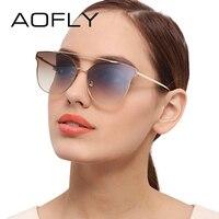 AOFLY Metal Sunglasses Women Brand Designer Vintage Sun Glasses Female Fashion Women Luxury Decoration Classic Eyewear