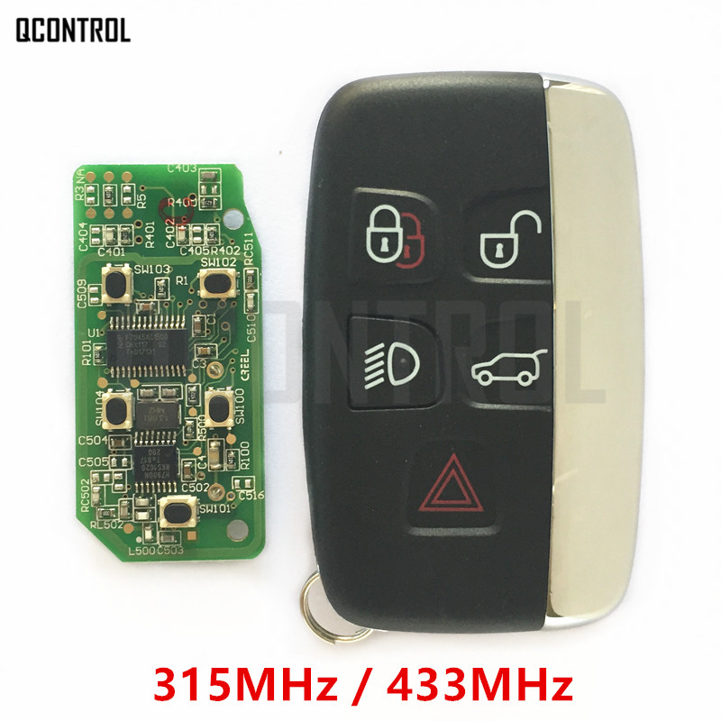 QCONTROL Car Remote Smart Key 315MHz / 434MHz Suit for Land Rover Discovery 4 / Freelander for Range Rover Sport / Evoque custom fit car floor mats for land rover discovery 3 4 freelander 2 sport range sport evoque 3d car styling carpet liner ry217