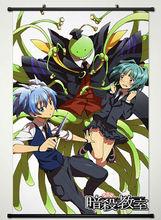 Wall Scroll Poster Fabric Printing for Anime Assassination Classroom Korosensei & Kaede Kayano & Shiota Nagisa