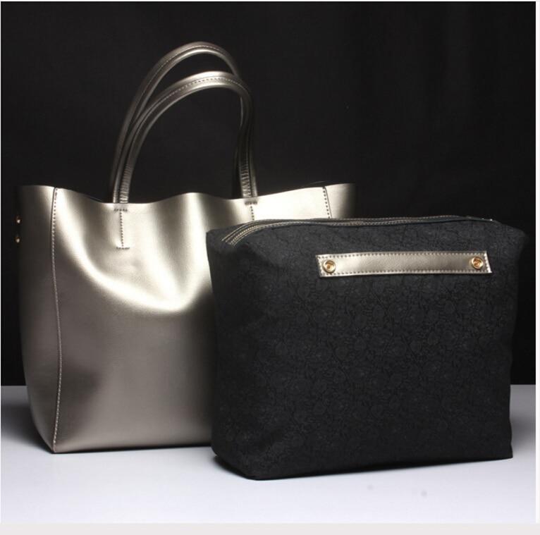 Fashion newest design genuine leather women s popular handbag vintage large capacity shoulder bag simple female