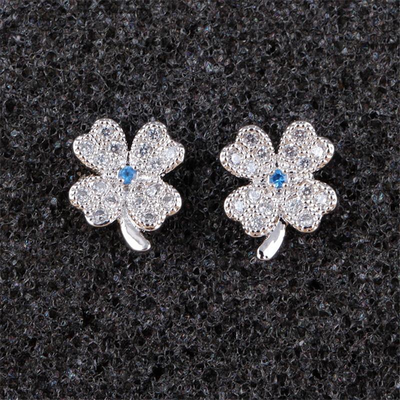 RONGQING Fashion Lucky Zircon Clover Ականջօղեր - Նորաձև զարդեր - Լուսանկար 2