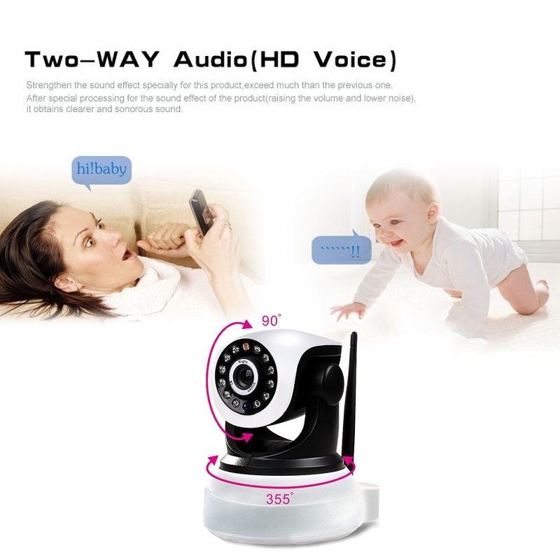 4GB Card+Ip wifi P2P wireless Camera securiy camera Home Security Indoor Phone HD Real-time View 720P baby/pet monitor
