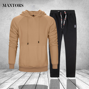 Sweatshirt Tracksuits Men Set Sportswear Long Sleeve Mens Hoodies + Sweatpants 2 pieces Sets Brand Track Suit Survetement Homme