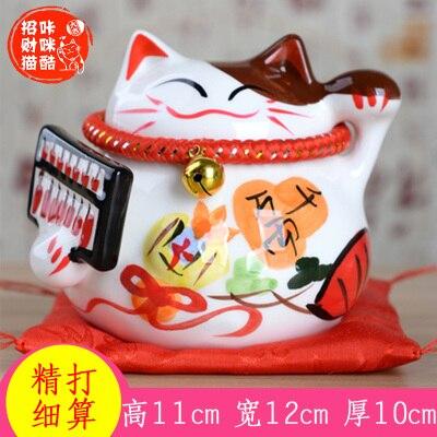 Caicai cat pieces size ceramic savings deposit tank household porch store opening creative wealth decoration culpture statue