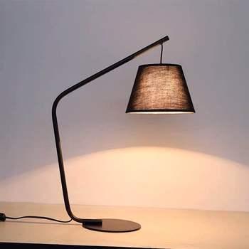Nordic Postmodern Creative Personality Living Room Table Lamp Wrought Iron Cloth Bedroom Bedside Lamp Danish Fishing Lamp